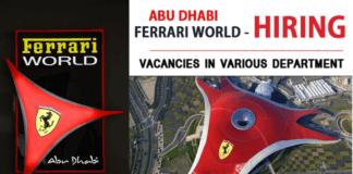 JOBS AT FERRARI WORLD 2021