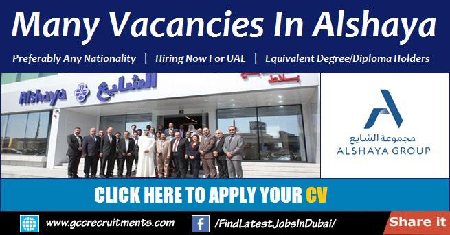 Alshaya Careers 2021 Job Vacancies in Dubai & UAE