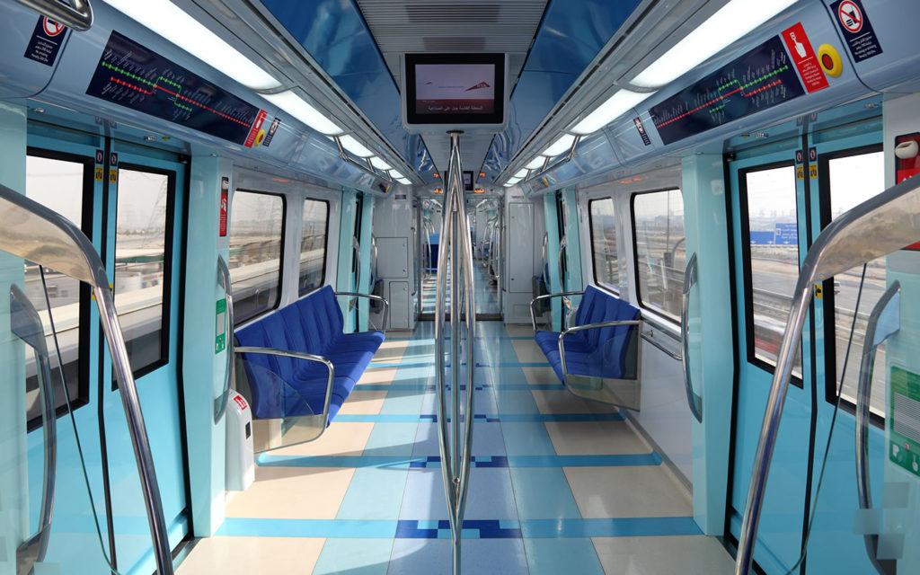 Inside look of dubai metro