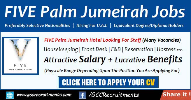 Five Palm Jumeirah Careers and Jobs at UAE 2021