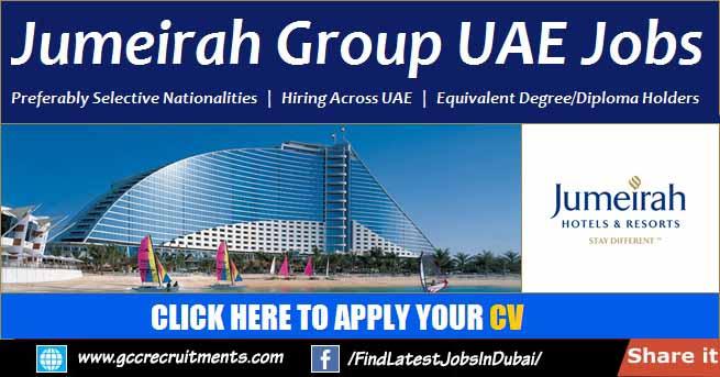 Jumeirah Group Careers 2021 Job Openings in Dubai
