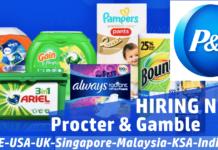 P&G Careers Job Vacancies 2021 Worldwide Openings